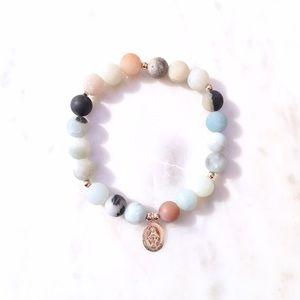 Jewelry - ✨Amazonite GF Prayer Stretch Bracelet